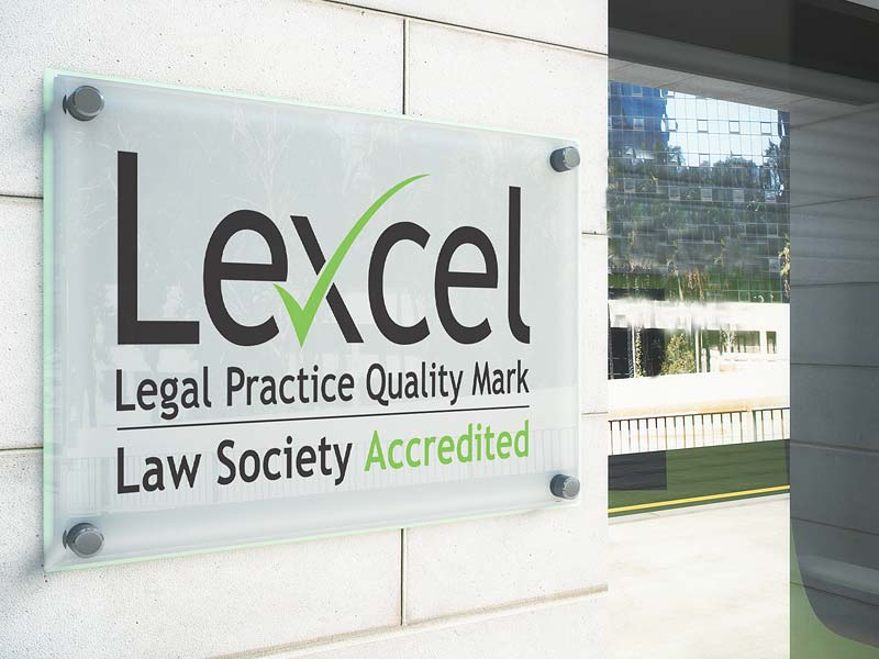 Image of Lexcel Legal Practice Quality Mark Accredited Law Firm